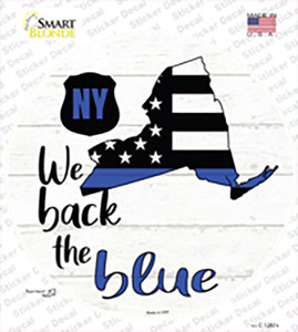 New York Back The Blue Wholesale Novelty Circle Sticker Decal
