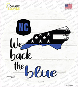 North Carolina Back The Blue Wholesale Novelty Circle Sticker Decal