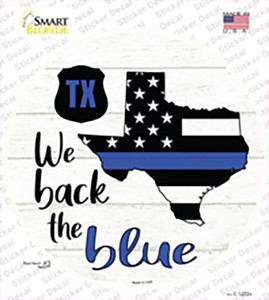 Texas Back The Blue Wholesale Novelty Circle Sticker Decal