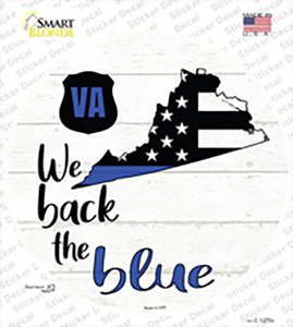 Virginia Back The Blue Wholesale Novelty Circle Sticker Decal