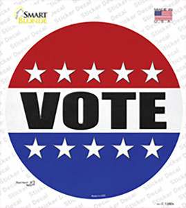 Vote Wholesale Novelty Circle Sticker Decal