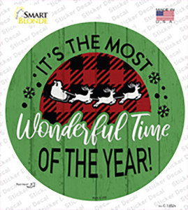 Most Wonderful Time Wholesale Novelty Circle Sticker Decal