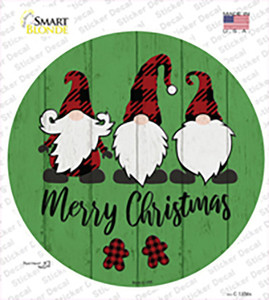 Merry Christmas Gnomes Wholesale Novelty Circle Sticker Decal