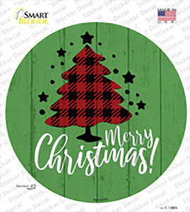 Merry Christmas With Tree Wholesale Novelty Circle Sticker Decal