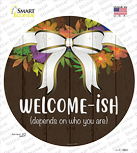 Welcomeish Wholesale Novelty Circle Sticker Decal