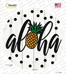 Aloha Pineapple Wholesale Novelty Circle Sticker Decal