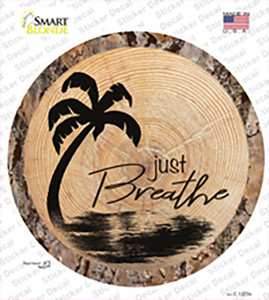 Just Breathe Wholesale Novelty Circle Sticker Decal