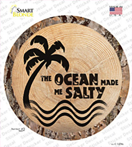 Ocean Made Me Salty Wholesale Novelty Circle Sticker Decal