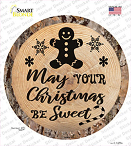 Christmas Be Sweet Wholesale Novelty Circle Sticker Decal