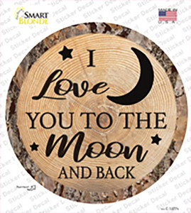 Moon And Back Wholesale Novelty Circle Sticker Decal