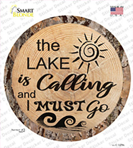 Lake is Calling Wholesale Novelty Circle Sticker Decal