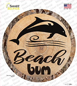 Beach Bum Dolphin Wholesale Novelty Circle Sticker Decal