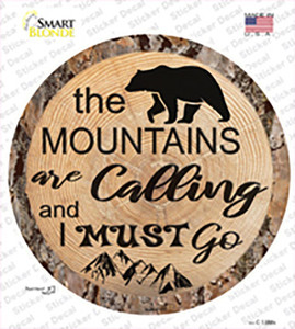Mountains are Calling Wholesale Novelty Circle Sticker Decal
