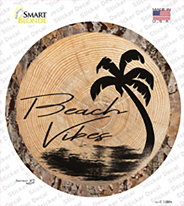 Beach Vibes Wood Wholesale Novelty Circle Sticker Decal