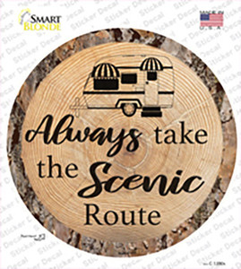 Scenic Route Wholesale Novelty Circle Sticker Decal