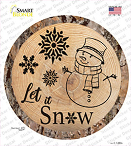 Let it Snow Wholesale Novelty Circle Sticker Decal