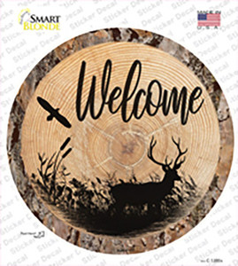 Welcome Elk Wholesale Novelty Circle Sticker Decal