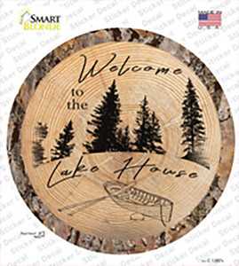 Welcome to the Lake House Wholesale Novelty Circle Sticker Decal