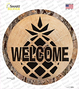 Welcome Pineapple Wholesale Novelty Circle Sticker Decal