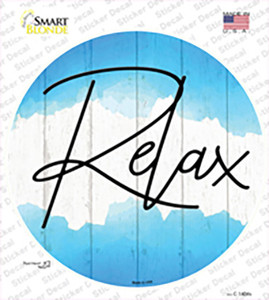 Relax Wholesale Novelty Circle Sticker Decal