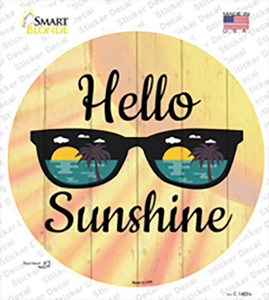 Hello Sunshine Wholesale Novelty Circle Sticker Decal