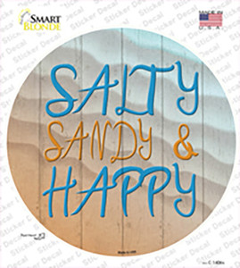 Salty Sandy and Happy Wholesale Novelty Circle Sticker Decal