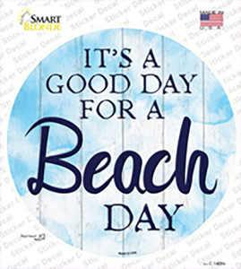 Beach Day Wholesale Novelty Circle Sticker Decal