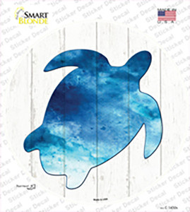 Seaturtle Silhouette Wholesale Novelty Circle Sticker Decal