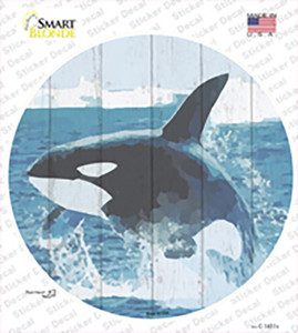Whale Out of Water Wholesale Novelty Circle Sticker Decal
