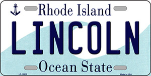 Lincoln Rhode Island License Plate Novelty Wholesale License Plate