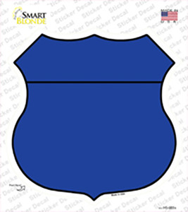 Blue Wholesale Novelty Highway Shield Sticker Decal
