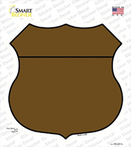 Brown Wholesale Novelty Highway Shield Sticker Decal