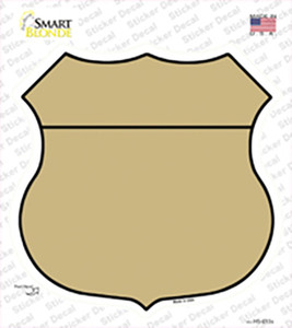 Gold Wholesale Novelty Highway Shield Sticker Decal