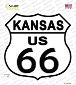 Kansas Route 66 Wholesale Novelty Highway Shield Sticker Decal
