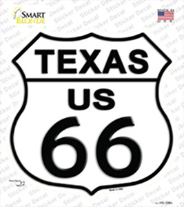 Texas Route 66 Wholesale Novelty Highway Shield Sticker Decal