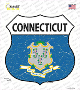 Connecticut Flag Wholesale Novelty Highway Shield Sticker Decal