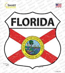 Florida Flag Wholesale Novelty Highway Shield Sticker Decal