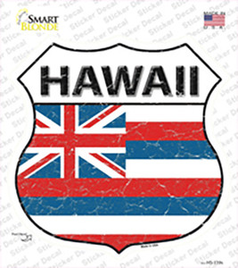 Hawaii Flag Wholesale Novelty Highway Shield Sticker Decal