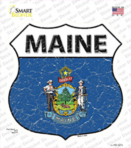 Maine Flag Wholesale Novelty Highway Shield Sticker Decal