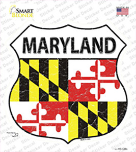 Maryland Flag Wholesale Novelty Highway Shield Sticker Decal