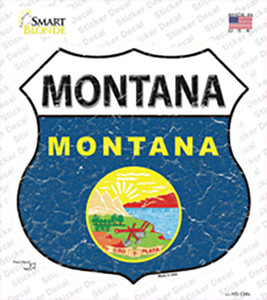 Montana Flag Wholesale Novelty Highway Shield Sticker Decal