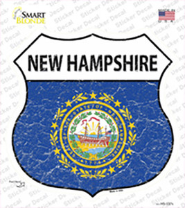 New Hampshire Flag Wholesale Novelty Highway Shield Sticker Decal