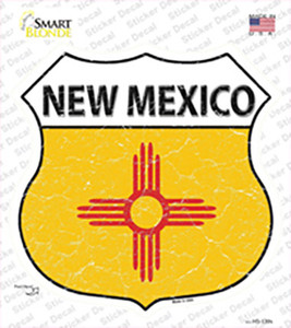 New Mexico Flag Wholesale Novelty Highway Shield Sticker Decal