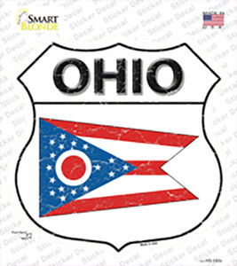 Ohio Flag Wholesale Novelty Highway Shield Sticker Decal