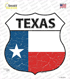 Texas Flag Wholesale Novelty Highway Shield Sticker Decal