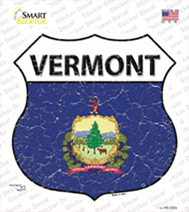 Vermont Flag Wholesale Novelty Highway Shield Sticker Decal