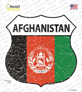 Afghanistan Flag Wholesale Novelty Highway Shield Sticker Decal
