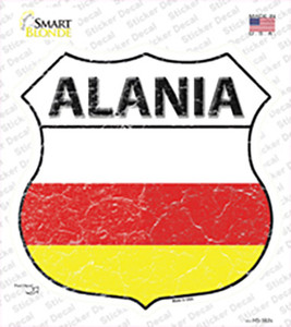 Alania Flag Wholesale Novelty Highway Shield Sticker Decal