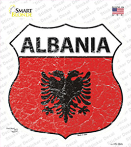 Albania Flag Wholesale Novelty Highway Shield Sticker Decal