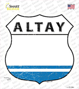 Altay Flag Wholesale Novelty Highway Shield Sticker Decal